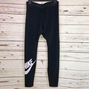 Nike | Black Leggings with Nike Check Logo